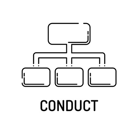 conduct: CONDUCT Line icon