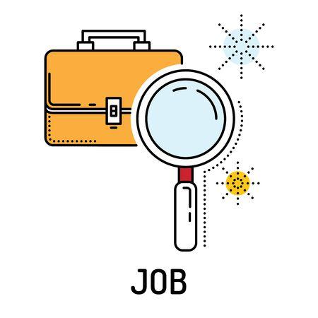 jobless: Job Line Icon