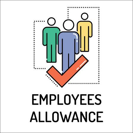 allowance: EMPLOYEES ALLOWANCE Line icon Illustration