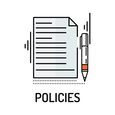 operational: POLICIES Line icon Illustration