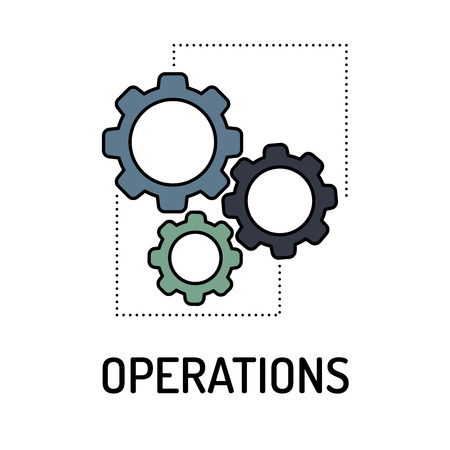 OPERATIONS Line icon Illustration