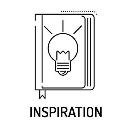 inspiration: INSPIRATION Line icon Illustration