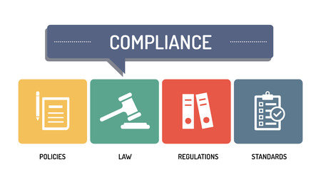 compliant: COMPLIANCE - ICON SET Illustration