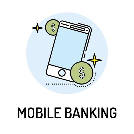 checking: MOBILE BANKING Line icon