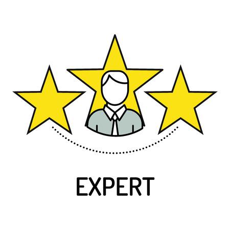 Expert Line Icon Illustration