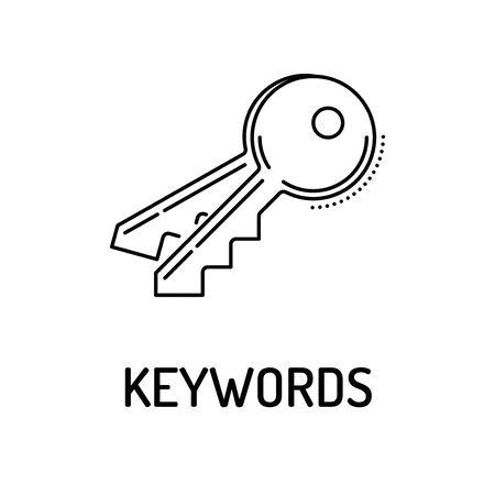 keywords: KEYWORDS Line icon