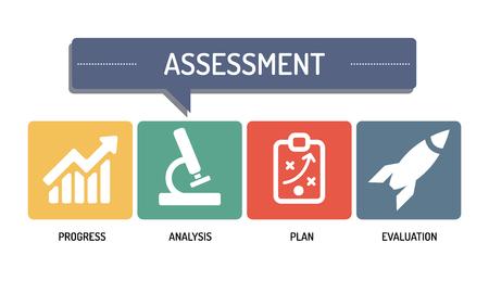 assess: ASSESSTMENT -  ICON SET Illustration