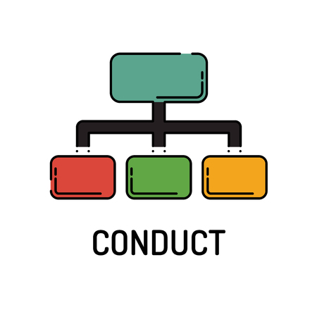 working ethic: CONDUCT Line icon