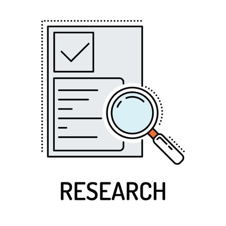 RESEARCH Line icon Illustration