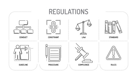 REGULATIONS - Line icons Concept