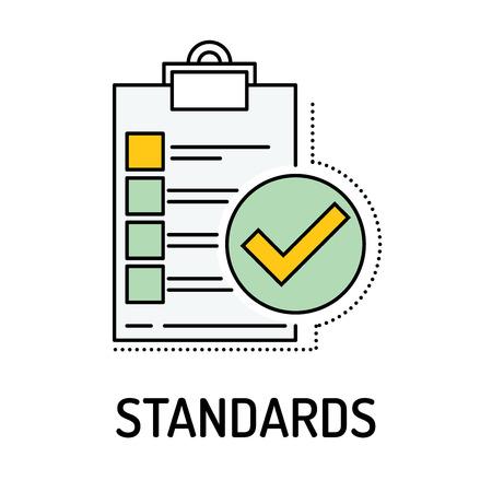 STANDARDS Line icon Banco de Imagens - 66495866