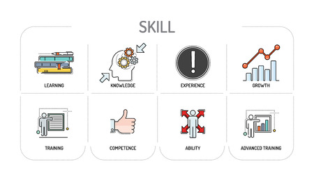 SKILL - Line icons Concept
