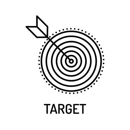 aspirational: Target Line Icon