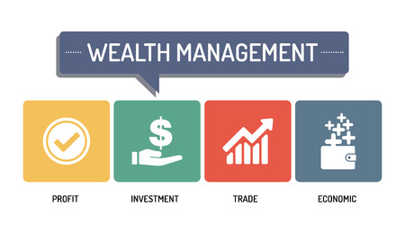 wealth management: WEALTH MANAGEMENT - ICON SET
