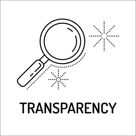understandable: Transparency Line Icon