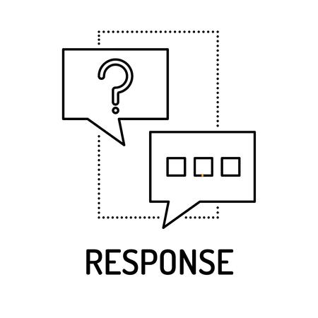 response: RESPONSE Line icon