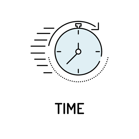 busines: TIME Line icon Illustration