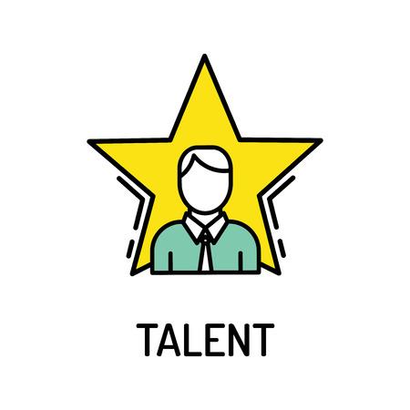 Talent Line Icon Illustration