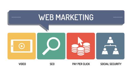 web marketing: WEB MARKETING - ICON SET