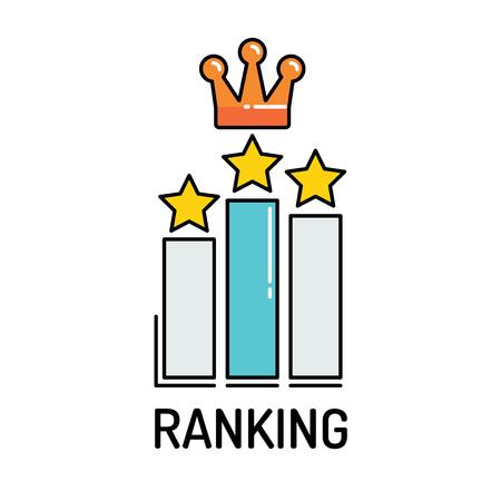ranking: RANKING Line icon