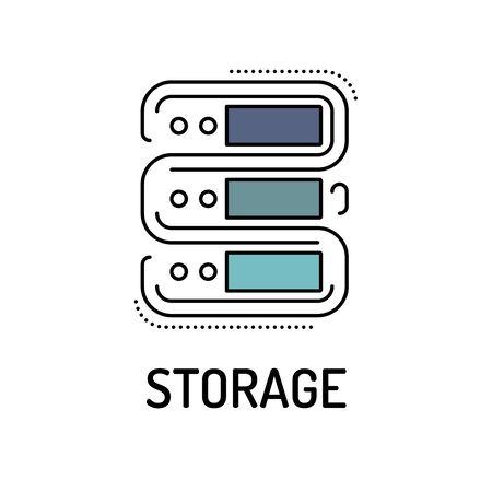 storage: STORAGE Line icon Illustration