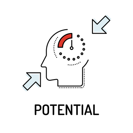 potential: POTENTIAL Line icon Illustration