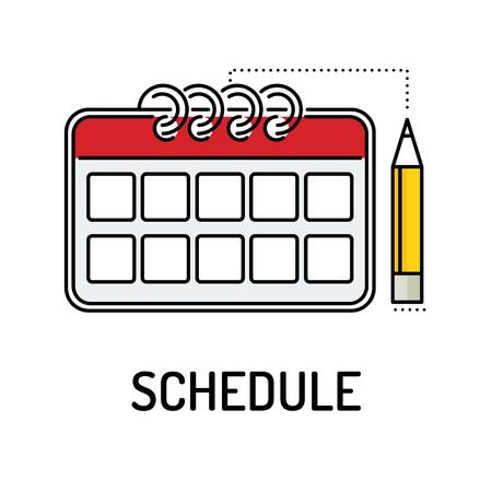 SCHEDULE Line icon Illustration