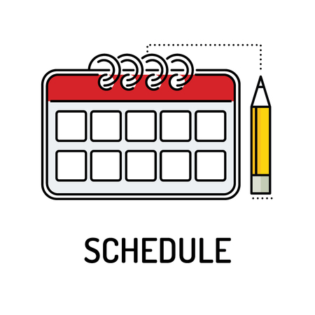 SCHEDULE Line icon Illusztráció