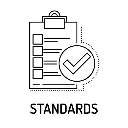 STANDARDS Line icon
