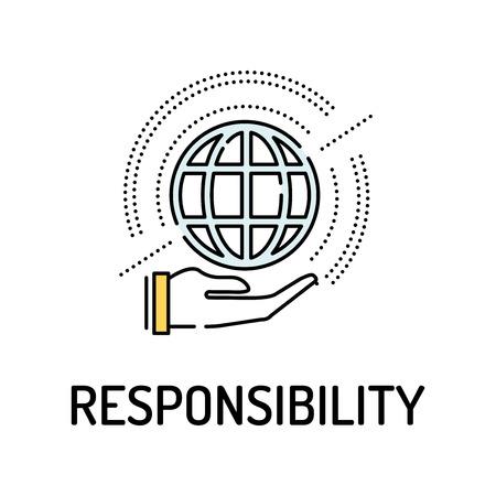 obligation: RESPONSIBILITY Line icon