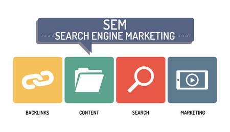 webmaster: SEM SEARCH ENGINE MARKETING - ICON SET