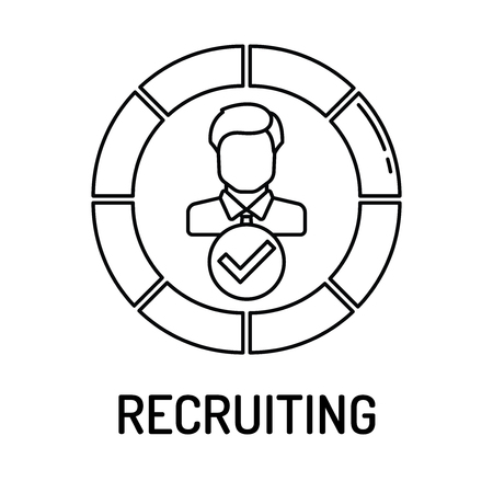 recruiting: RECRUITING Line icon