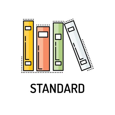 icono de línea estándar Ilustración de vector