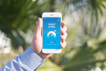 creditworthiness: CREDIT SCORE CONCEPT ON SCREEN
