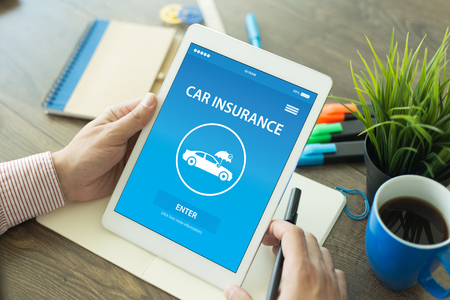 solicitude: CAR INSURANCE CONCEPT ON SCREEN