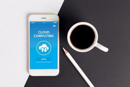 cloud computing concept: CLOUD COMPUTING CONCEPT ON SCREEN
