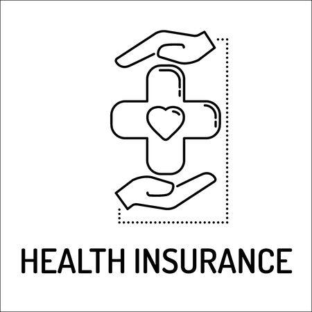 insure: HEALTH INSURANCE Line icon