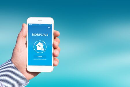 MORTGAGE CONCEPT ON SCREEN Stock Photo