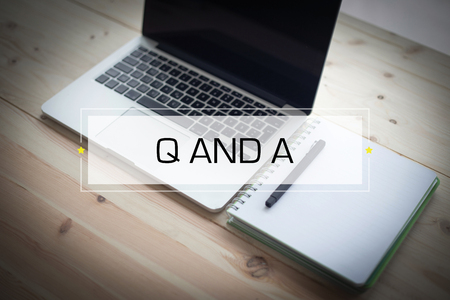 q: Q AND A CONCEPT Stock Photo