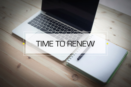 to renew: TIME TO RENEW CONCEPT Stock Photo