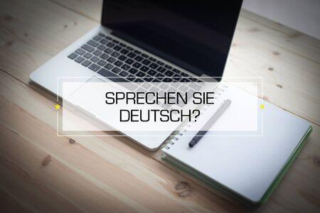 deutsch: SPRECHEN SIE DEUTSCH? CONCEPT Stock Photo