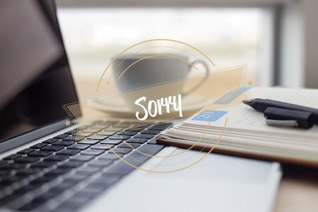 SORRY CONCEPT Stock Photo