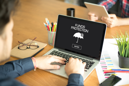funds: FUNDS PROTECTION CONCEPT Stock Photo