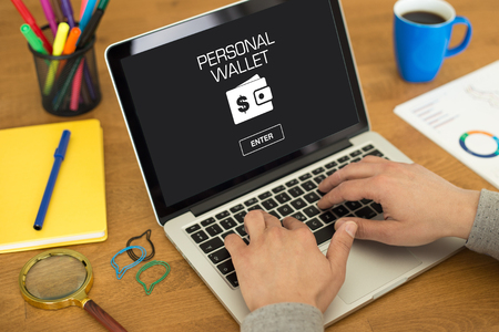 billfold: PERSONAL WALLET CONCEPT Stock Photo