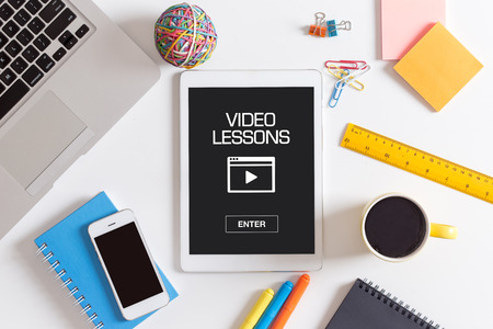 VIDEO LESSONS CONCEPT Archivio Fotografico