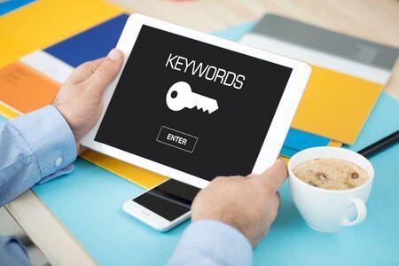 keywords: KEYWORDS ICON CONCEPT ON SCREEN