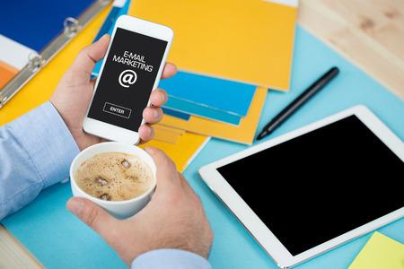 E-MAIL MARKETING ICON CONCEPT ON SCREEN