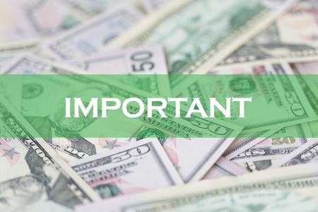 important: FINANCE CONCEPT: IMPORTANT