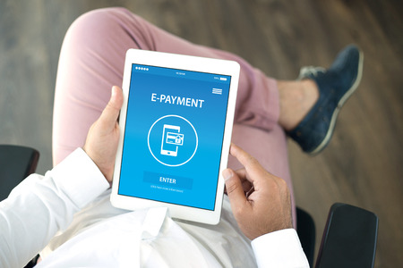 epayment: E-PAYMENT CONCEPT ON SCREEN