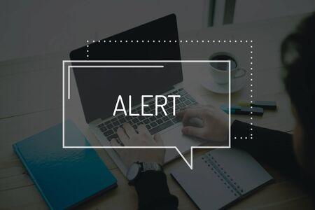 spy ware: COMMUNICATION WORKING TECHNOLOGY BUSINESS ALERT CONCEPT